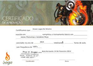 Redatora da Afirma recebe certificação da SAGA