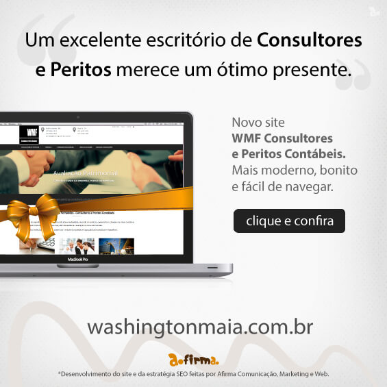Entrega do site WMF Consultores e Peritos