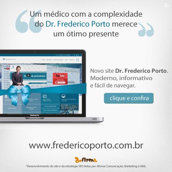 lançamento site dr. Frederico Porto