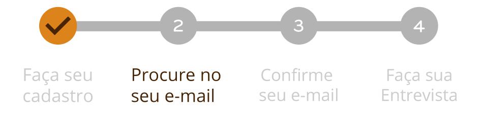 Procure no seu email
