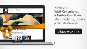 Website WMF Consultores e Peritos Contábeis
